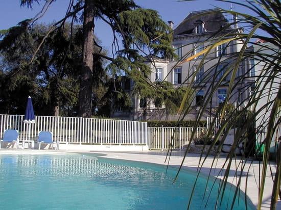 Domaine du Breuil Cognac  - Chateau et Piscine dans le parc -   © luc marmain