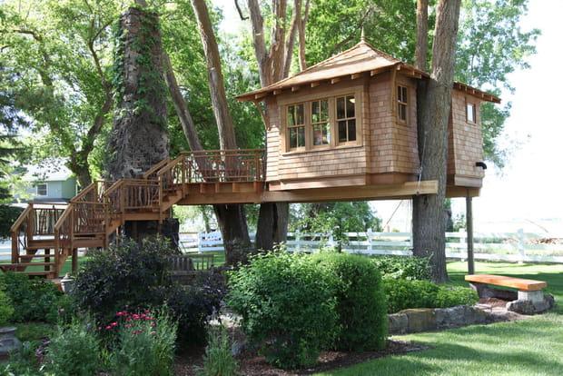 Construction De Cabane Dans Les Arbres des idées de cabanes à construire dans les arbres