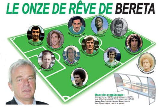 Le Onze-type de l'AS Saint-Etienne par Georges Bereta