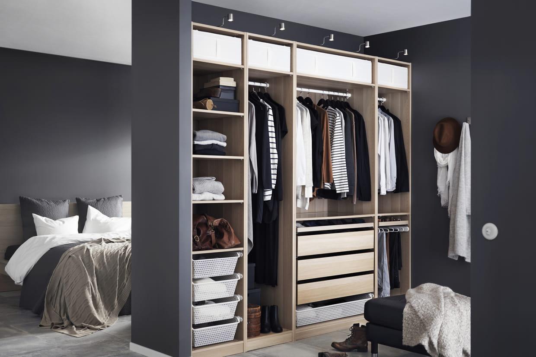 le dressing pax d 39 ikea version grise. Black Bedroom Furniture Sets. Home Design Ideas