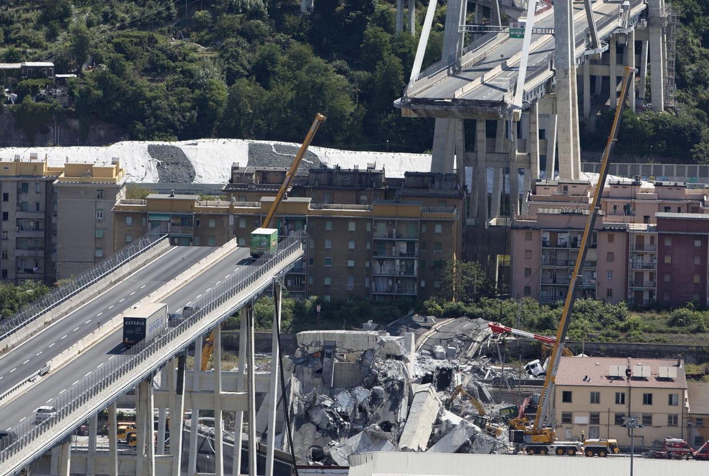 """Pont de Gênes : un """"modèle"""" de reconstruction érigé en """"symbole"""" italien . 10857437"""