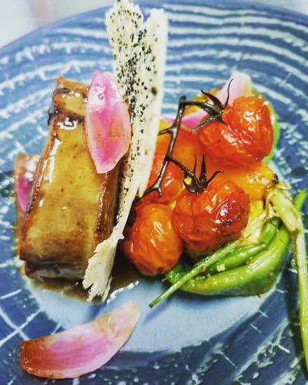 , Plat : Sur Le Green Restaurant  - Paleron de Veau -   © Allison Feuvrier
