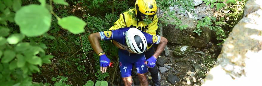 Philippe Gilbert: l'impressionnante chute du coureur en vidéo