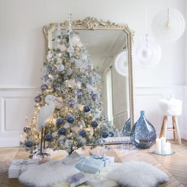 Un sapin de Noël givré
