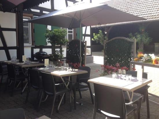 Restaurant : L'Auberge du Cygne  - Terrasse -