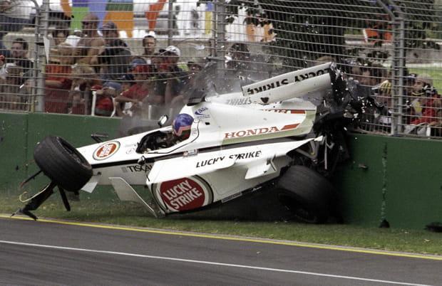 Jacques Villeneuve à Melbourne (Australie) en2001