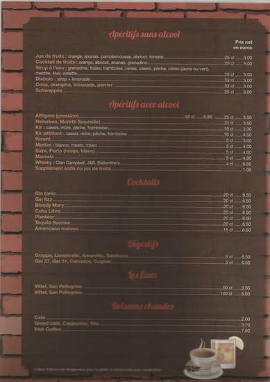 Pizzeria Geppetto  - menu l'année 2015 -