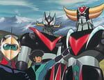 Goldorak, Getter Robot G et Great Mazinger contre le Dragosaure