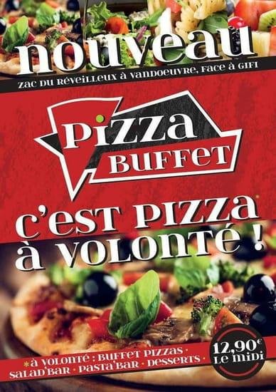 Restaurant : Pizza Buffet  - Flyer pizza buffet  -