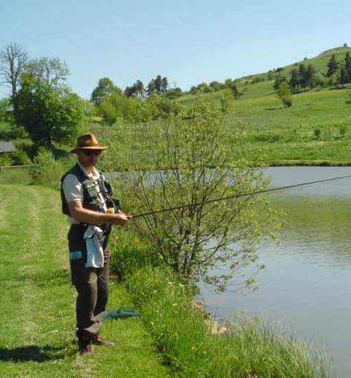 Les Moulins du Bouchat  - Pecheur à la mouche -