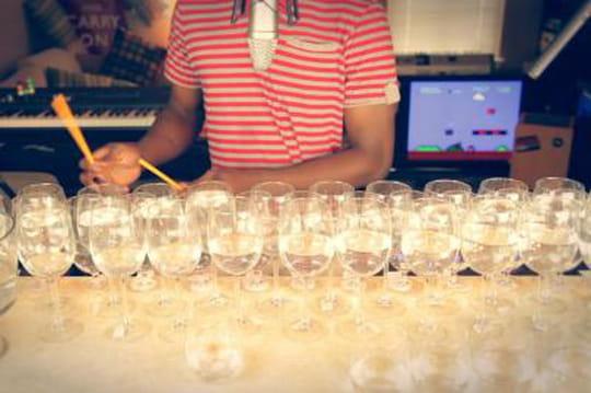 Le thème de Mario Bros avec 48 verres à vin