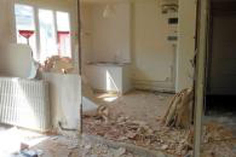 Suppression des cloisons entre le couloir, la cuisine et le ...