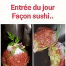 Entrée : Tipolino  - thon saumon avocat au yuzu façon sushi -   © Fait par nous
