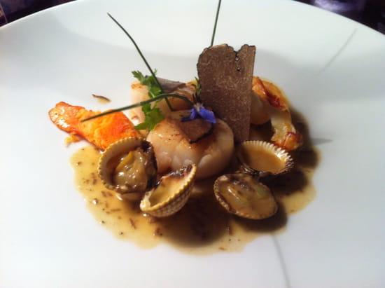 La Table du Prince  - Noix de Saint Jacques et homard aux truffes d'été -   © Thierry PARIS