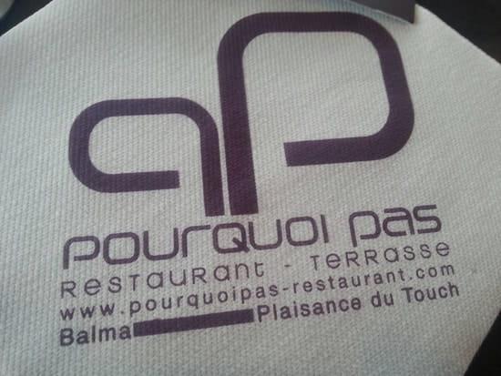Restaurant : Pourquoi Pas  - Nom du restaurant et site internet -
