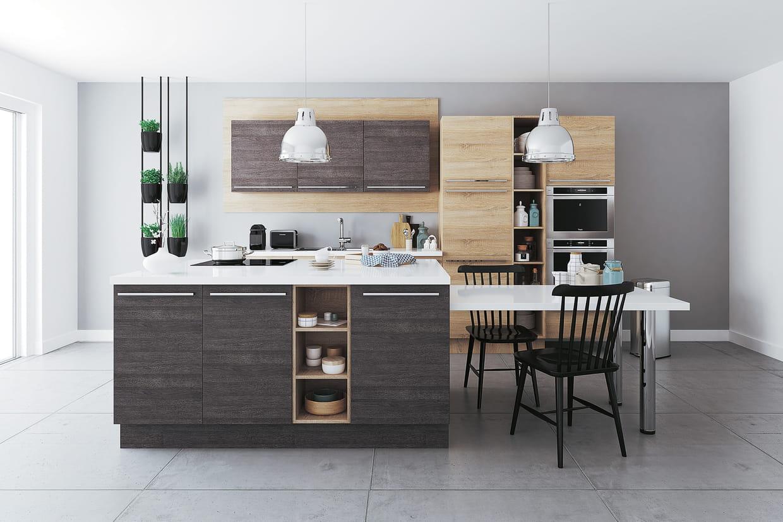 lot de cuisine id alis de but. Black Bedroom Furniture Sets. Home Design Ideas