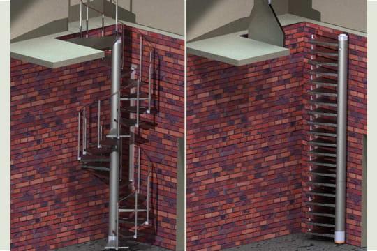 escalier helicoidal repliable