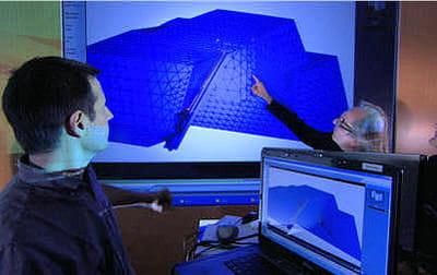 jean-pierre houdin travaille avec l'équipe dassault systèmes pour modéliser la