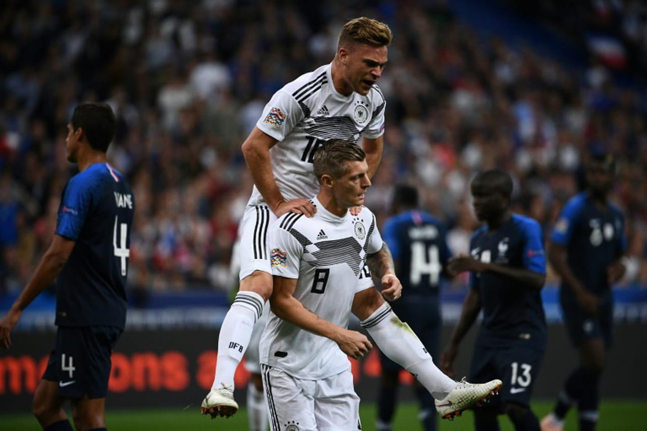 Ligue des Nations: la France menée par l'Allemagne à la mi-temps (1-0)