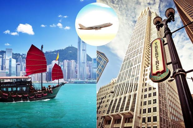 Hong Kong - Chicago : 12 543 km