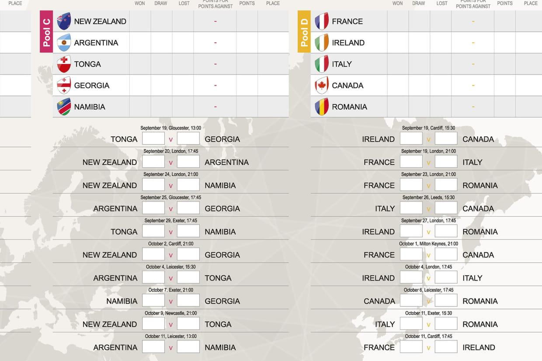 Mondial de rugby 2015 tableau le calendrier des matchs - Classement coupe du monde de rugby ...