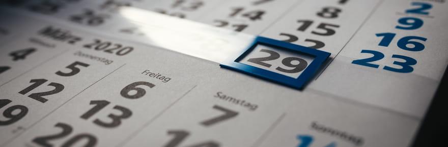 Année bissextile:pourquoi y a-t-il un 29février en 2020?
