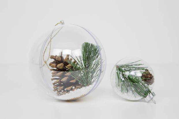 Boule De Noel Transparente A Remplir Tutoriel boule de Noël transparente à remplir