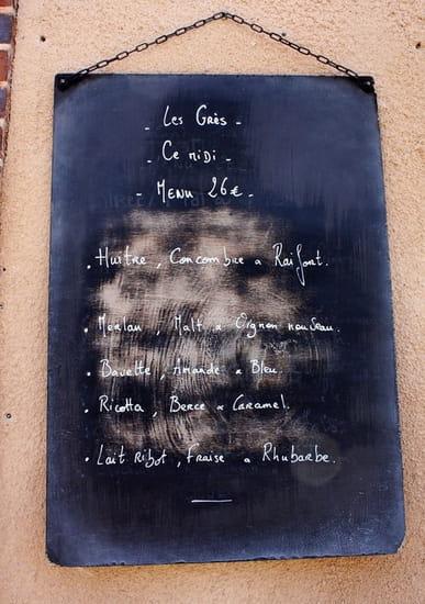 Les Grès  - exemple de menu -   © Pierre-Jean Cardona