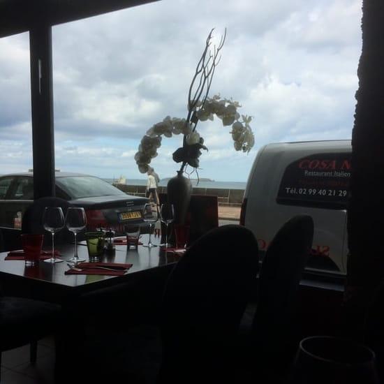Restaurant : Cosa Nostra  - Vue de ma table -