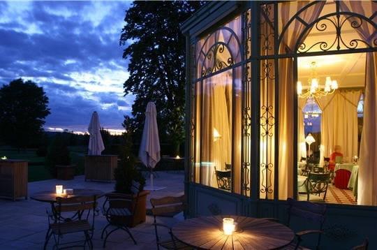 Chateau de Courcelles  - Salle de restaurant - Jardin d'Hiver -