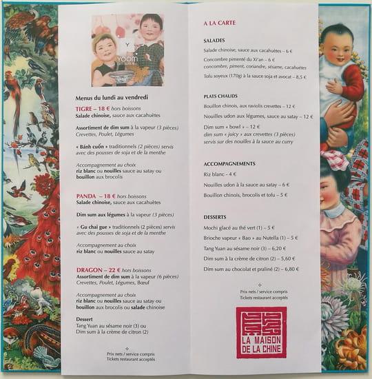 Restaurant : La Maison de thé  - Nouvelle carte de La Maison de thé -   © La Maison de thé