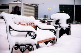 Les images de Reykjavik après des chutes de neige record