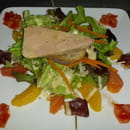 Entrée : La capellette  - Appeler salade de lacapelette avec agrume et foie gras Un delice -