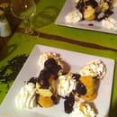 Dessert : Le Paradis Blanc  - Profiterolles faites maison (avec du vrai chocolat chaud!) -