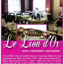 Le Lion d'Or  - Nos services : Soirée gustatives à thème - Banquets - WI-FI gratuit illimité - Animaux acceptés -   © L'épîcurienne