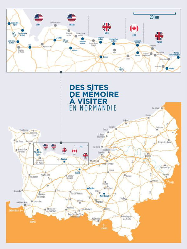 Carte du débarquement en Normandie
