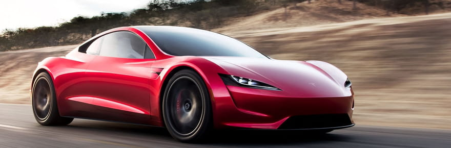 Tesla Roadster: l'impressionnant bolide électrique en images