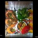 Sous le soleil  - Gambas à la provencale(ail beurre persil citron ) un régal. -