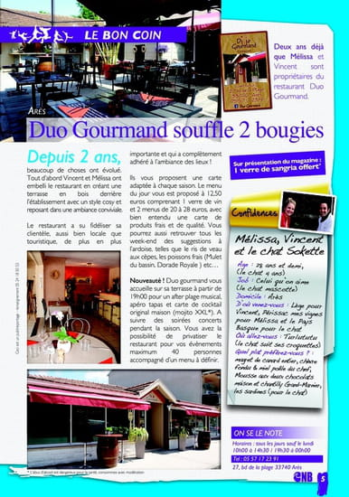 Duo Gourmand  - Magazine  -   © Nord bassin