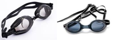 des lunettes à pont réglable (à gauche) et à pont fixe.
