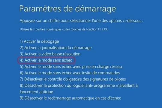 Comment démarrer Windows en mode sans échec