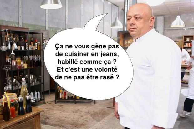 """Thierry Marx à Jean-Edern: """"Ça ne vous gêne pas de cuisiner en jeans?"""""""