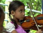Bengale, les musiciens de la Gandhi Ashram School