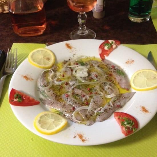 Entrée : Le Vieux Passage  - Carpaccio de sardines -