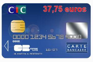 23e cic avec une carte bleue visa ou mastercard 37 75 euros par an. Black Bedroom Furniture Sets. Home Design Ideas