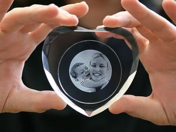 boite à bijoux cœur cristal personnalisée