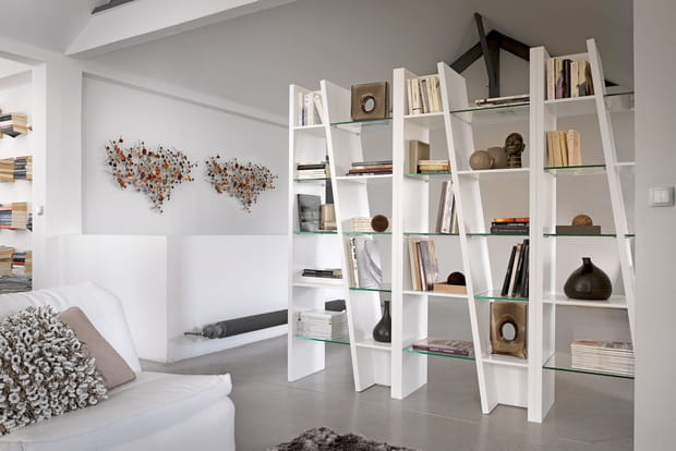 une biblioth que originale. Black Bedroom Furniture Sets. Home Design Ideas
