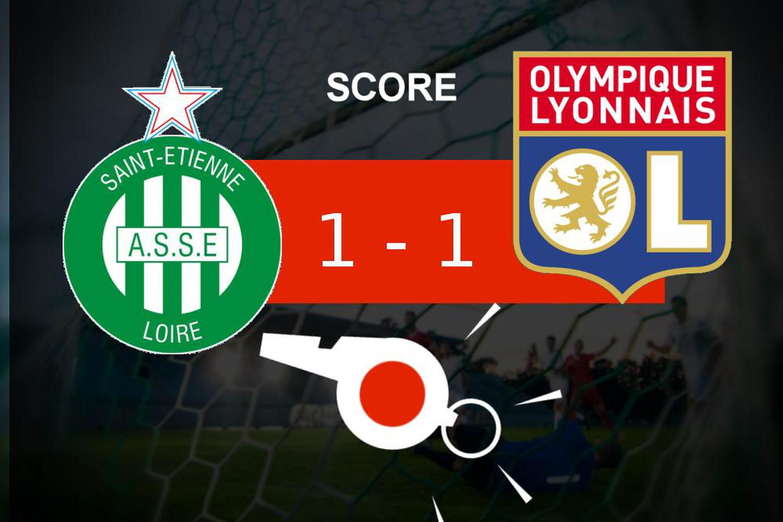 Saint-Etienne - Lyon: l'AS Saint-Etienne obtient un nul, ce qu'il faut retenir