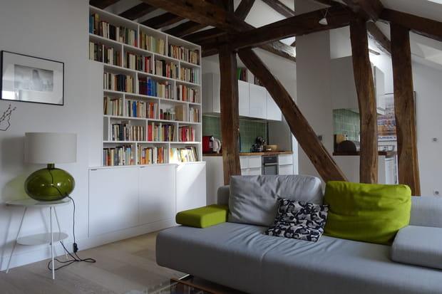 Avant/après: un appartement sous les toits superbement agencé
