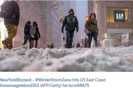 Tempête Juno aux USA : les images spectaculaires de New York
